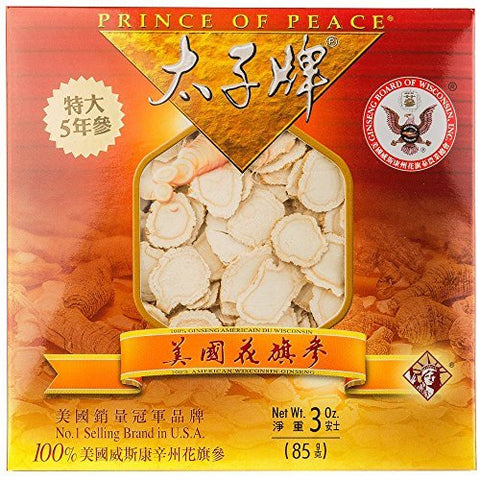Prince Of Peaceâ® Wisconsin American Ginseng 5 Year Root Jumbo Slices (3oz)