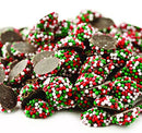 Image of Christmas Dark Chocolate Mini Nonpareils Candy, Bulk 1 Lb. Bag (Pack of 4)