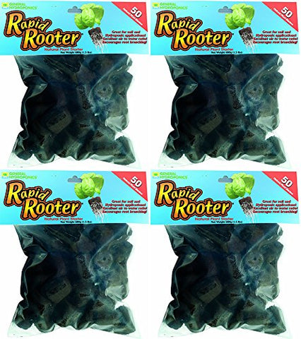 General Hydroponics Rapid Rooter Replacement Plugs VlpqfwB, 50 Count (4 Pack)