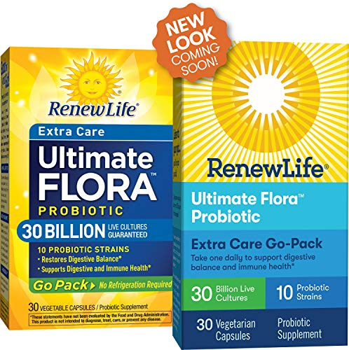 Renew Life Adult Probiotic   Ultimate Flora Extra Care Go Pack Probiotic Supplement For Men & Women