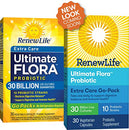 Image of Renew Life Adult Probiotic   Ultimate Flora Extra Care Go Pack Probiotic Supplement For Men & Women