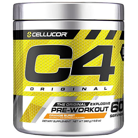 C4 Original Pre Workout Powder Orange Burst | Sugar Free Preworkout Energy Supplement for Men & Women | 150mg Caffeine + Beta Alanine + Creatine | 60 Servings