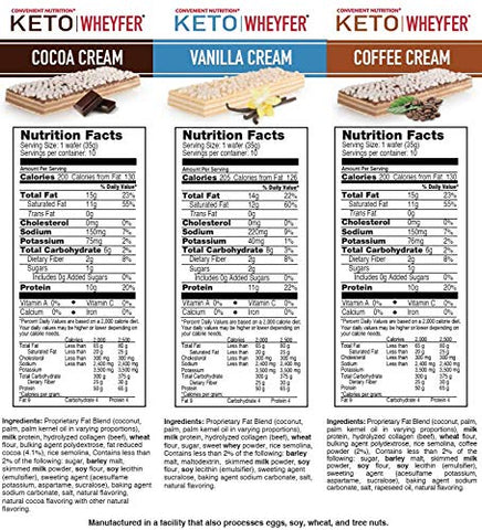 Convenient Nutrition Keto Wheyfer Bars Coffee Cream - 10 Bars