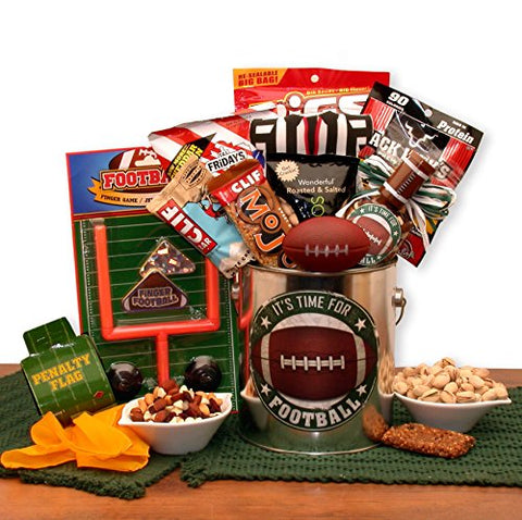 Sports Enthusiasts Game Day Football Time Gift Pail by GBA