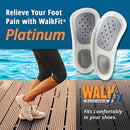 Image of WalkFit Platinum Foot Orthotics Plantar Fasciitis Arch Support Insoles Relieve Foot Back Hip Leg and Knee Pain Improve Balance Alignment Over 10 Million Sold Men 6-6.5 / Women 7-7.5