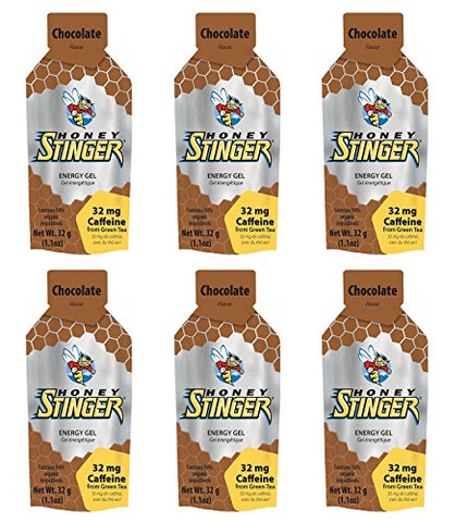 Honey Stinger Organic Energy Gel - Chocolate (6 x 1.1oz Packs)