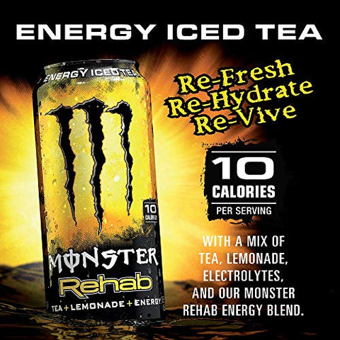 Monster Rehab - Tea + Lemonade - 16fl oz (Pack of 12)