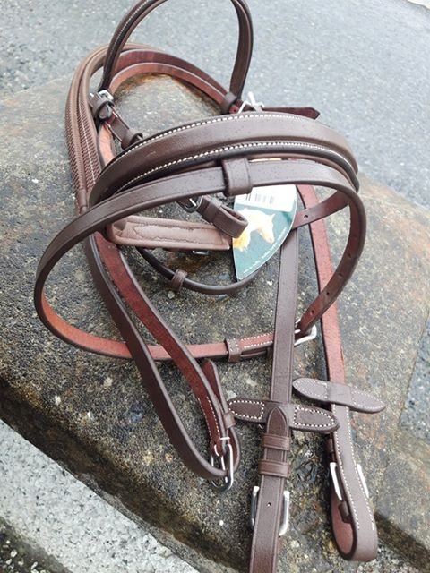 Norton Raised Stitched Bridle with Flash PONY BROWN  [037301793018]