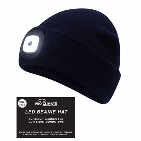 Unisex Adults Acrylic Led Beanie Lamp [184Ma000346BLK]
