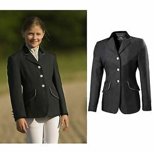 Equitheme Competition Jacket Kids Black/Silver [0379880200]