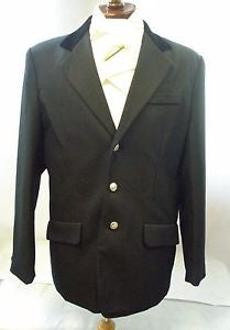 Equitheme Competition Jacket Black with velvet collar Mens [0379880300]