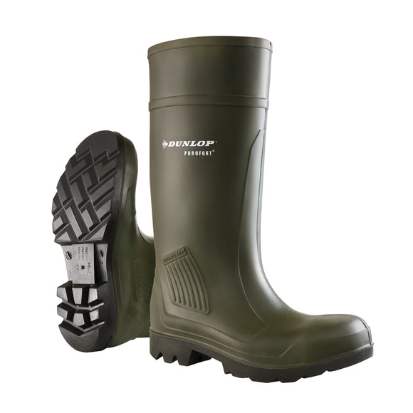 Dunlop Purofort Wellington Boot Soft Toe Green  [007wl002]