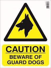 """Caution Beware Of Dog"" Sign [010HAR03415]"