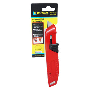 Auto Rectractable Safety Knife [002KR037DTR]