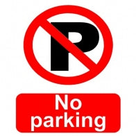 """No Parking"" Sign [222P005D]"