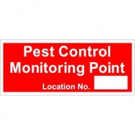 """Pest Control Monitoring Point"" Sign [222A033AD1]"
