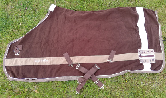 Equitheme fleece rug - Chocolate 6'0