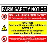 """Farm Safety Notice"" Sign [222A007D]"