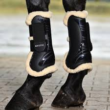 Tendon Boot With Fur - Black [16614550020100]