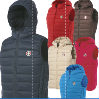 E- Theme Padded Vest / bodywarmer With Hood [0379780250]