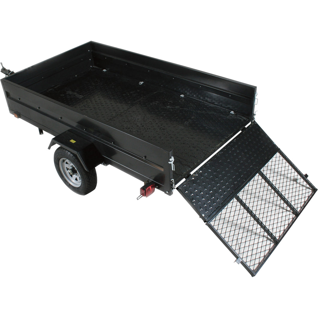 5ft x 8ft Multistar Multi-Purpose Utility Trailer with Ramp 1430-lb load capacity