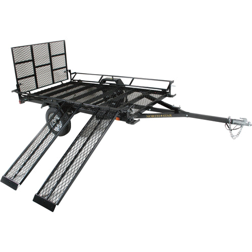 5ft. x 9ft Sportstar II Steel Mesh-floor Utility Trailer with Rear Gate/Ramp 1420-lb. Load Capacity NS2