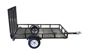 5ft x 8ft Allstar Utility Trailer with Rear Loading Ramp 1635lb load capacity