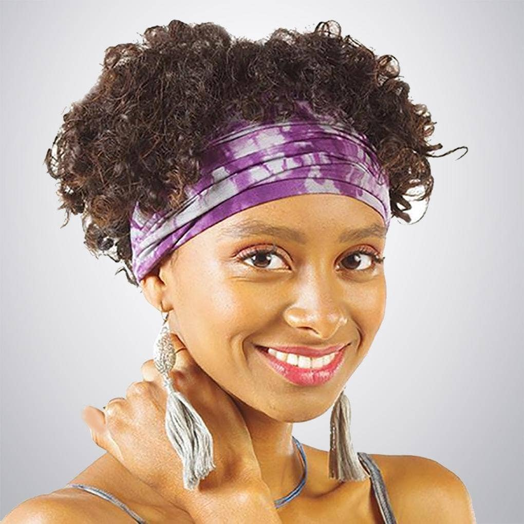Wrapsody Headband - Plum Shibori