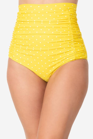 Monroe Swim bottom, high waist, ruching