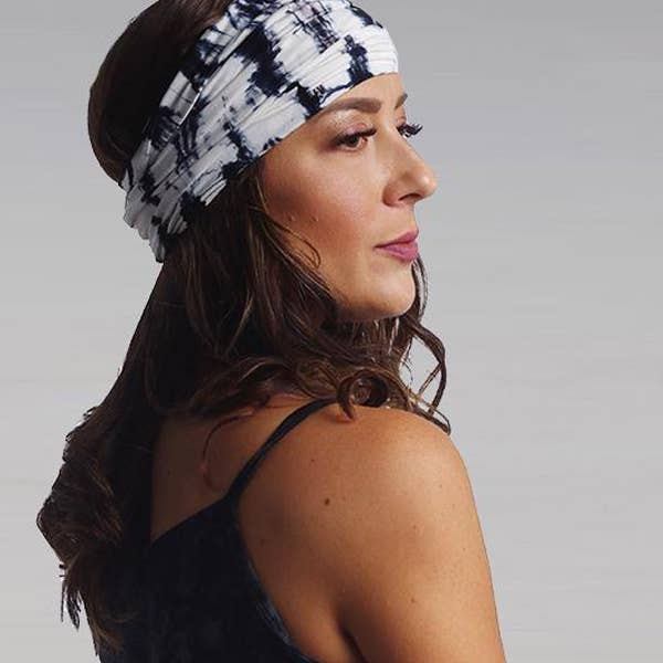 Wrapsody Headband - Black Shibori