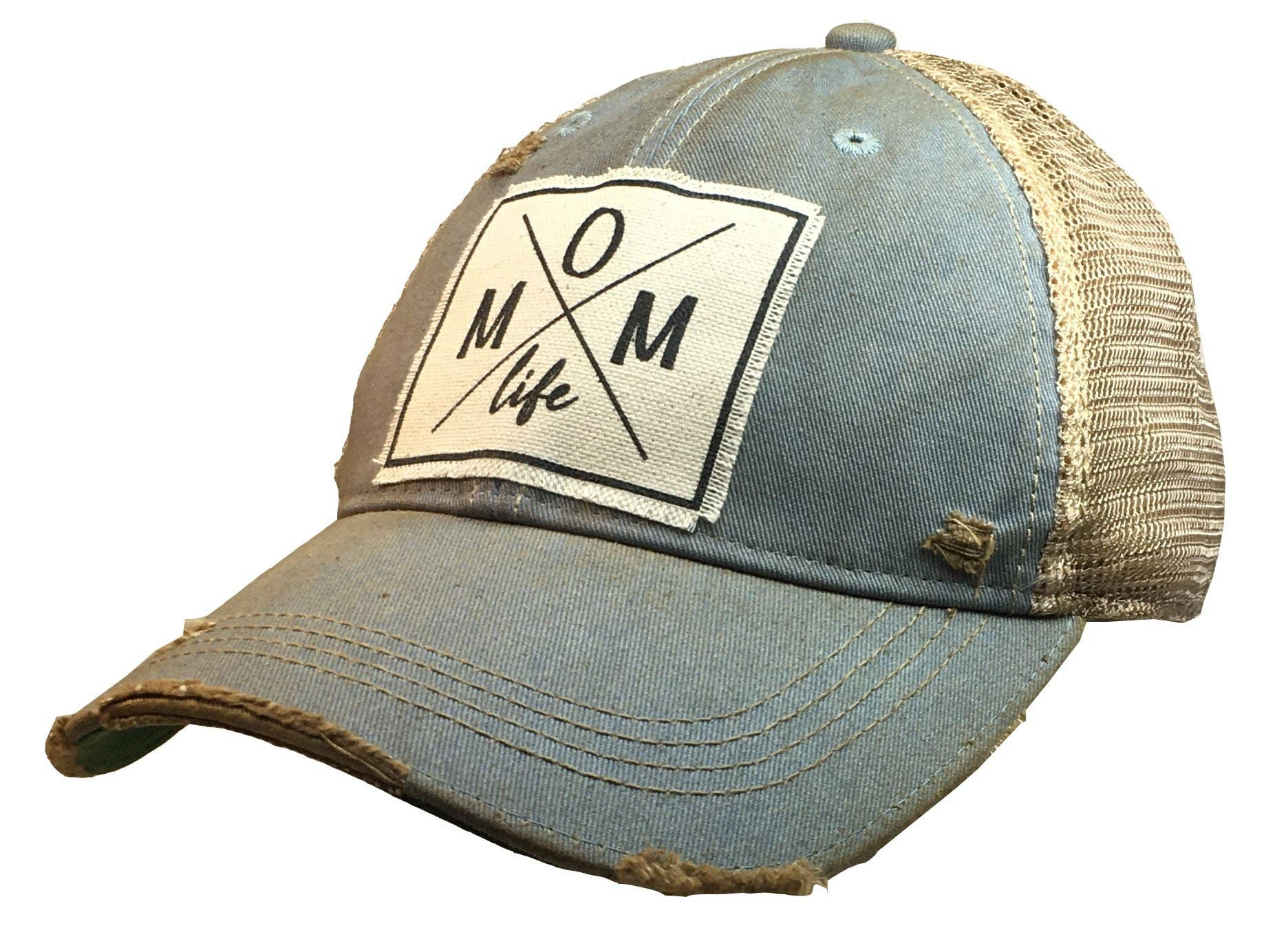 Mom Life Distressed Trucker Cap