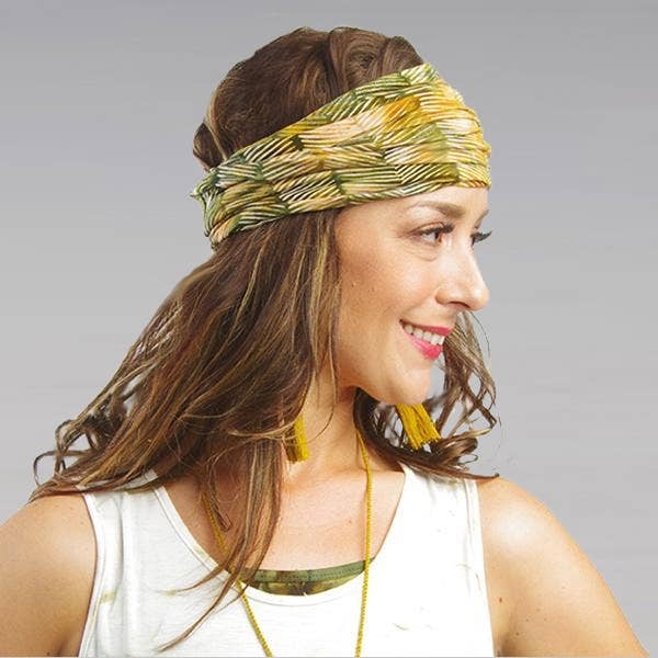 Wrapsody Headbands - Palm Leaf Batik Print