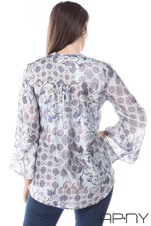 Paisley Tunic Top