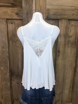 Camisole Adjustable Straps Lace Front
