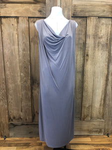 Maxi Dress sleeveless, draped front