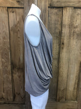 Load image into Gallery viewer, Sleeveless Draped front Hi/Lo top