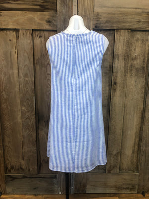 Dress, Linen & Cotton, Sleeveless