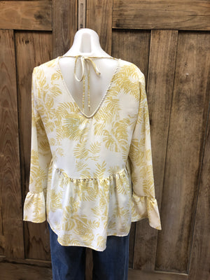 Baby Doll Top with Bell Sleeve