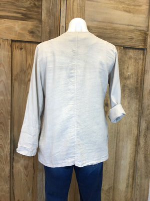 Linen Jacket, 3/4 Sleeve, Pockets