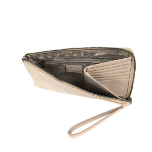Bag Tina Python Zip Around Wristlet