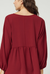 Babydoll V-Neck Long Sleeve Top