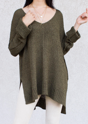 Top Sweater 3/4 Slv Pullover