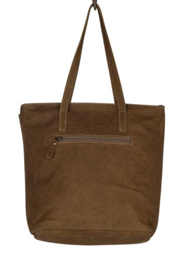Myra Tinges Leather Tote Bag