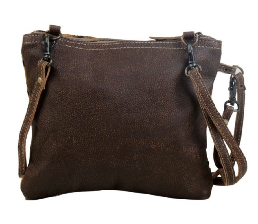 Myra Freckled Leather & Hairon Bag