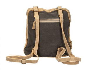 Myra Amber Hairon Pocket Backpack Bag