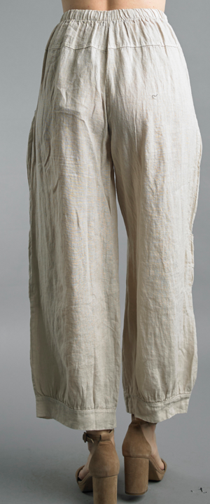Pocketed Linen Pants