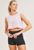 Double-Layered Edged Cropped Tank Top