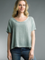 Round Neck Basic Tee w/Net Back