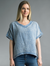 Gauze V-Neck Tee Tunic Top
