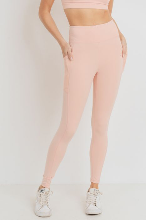 Overlay Mesh Pocket Highwaist Leggings, Recycled